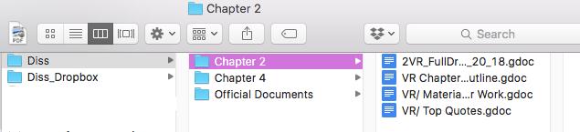 Dissertation Folder Hierarchy